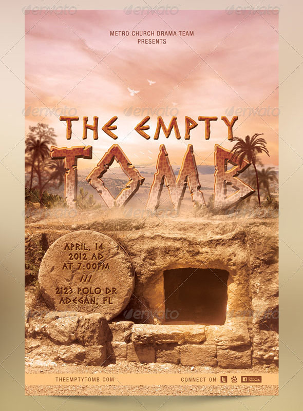 The Empty Tomb Church Flyer and Postcard Template