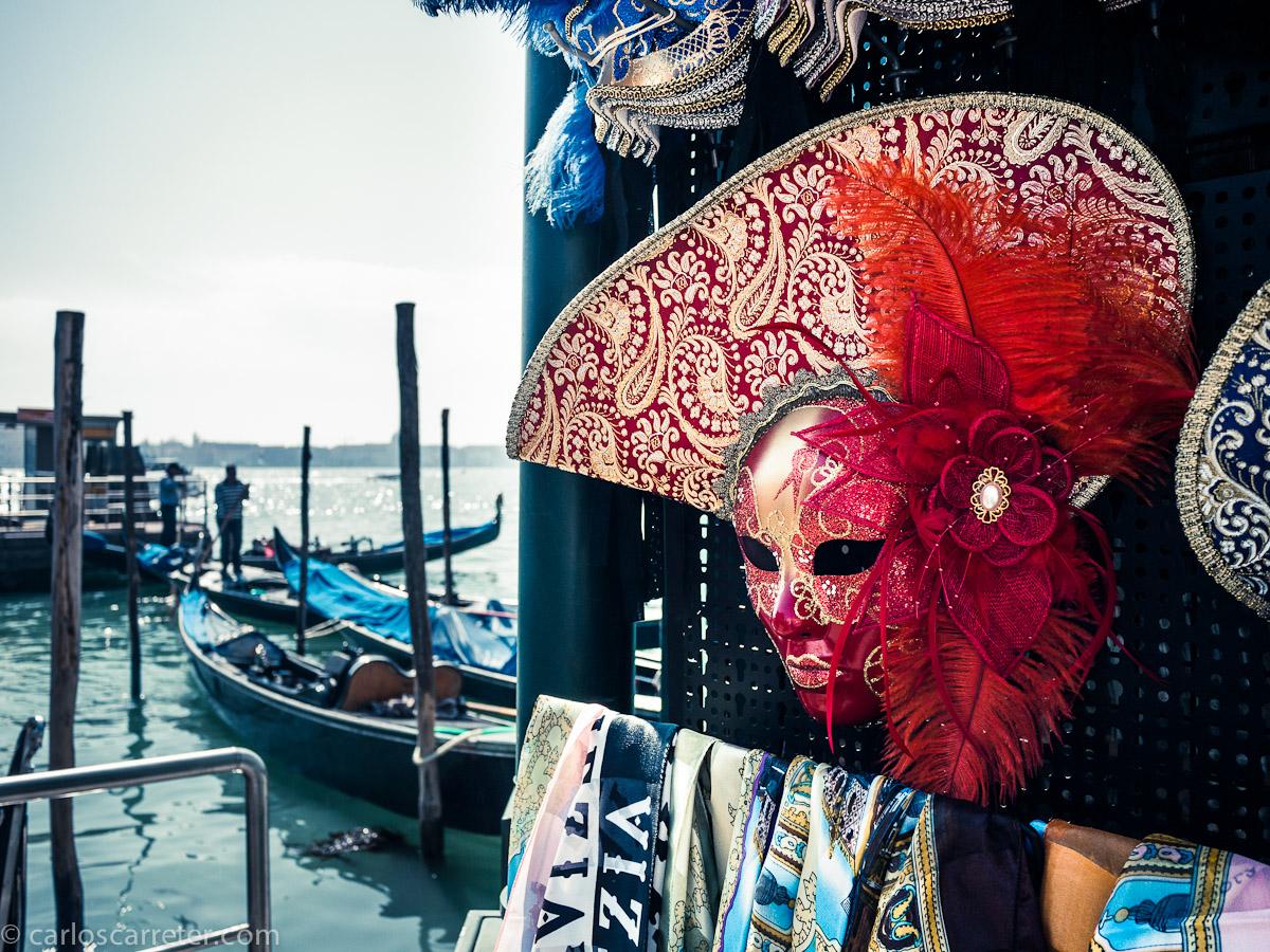 Máscara en la Riva degli Schiavoni