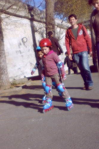 Girls Rollerblading