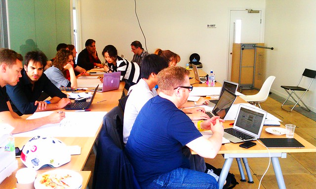 06.29.12 Students at my UX Basics Workshop at General Assembly London