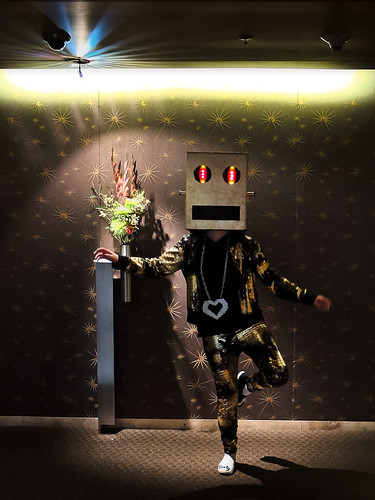 Haley as the Gold Robot