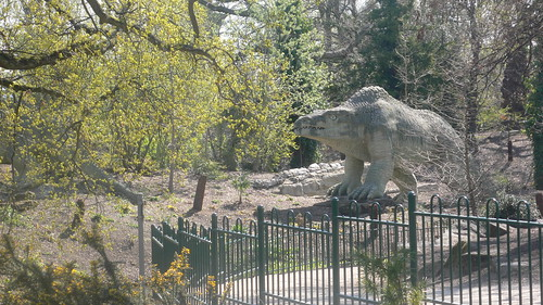 Toothy dinosaur at Crystal Palace