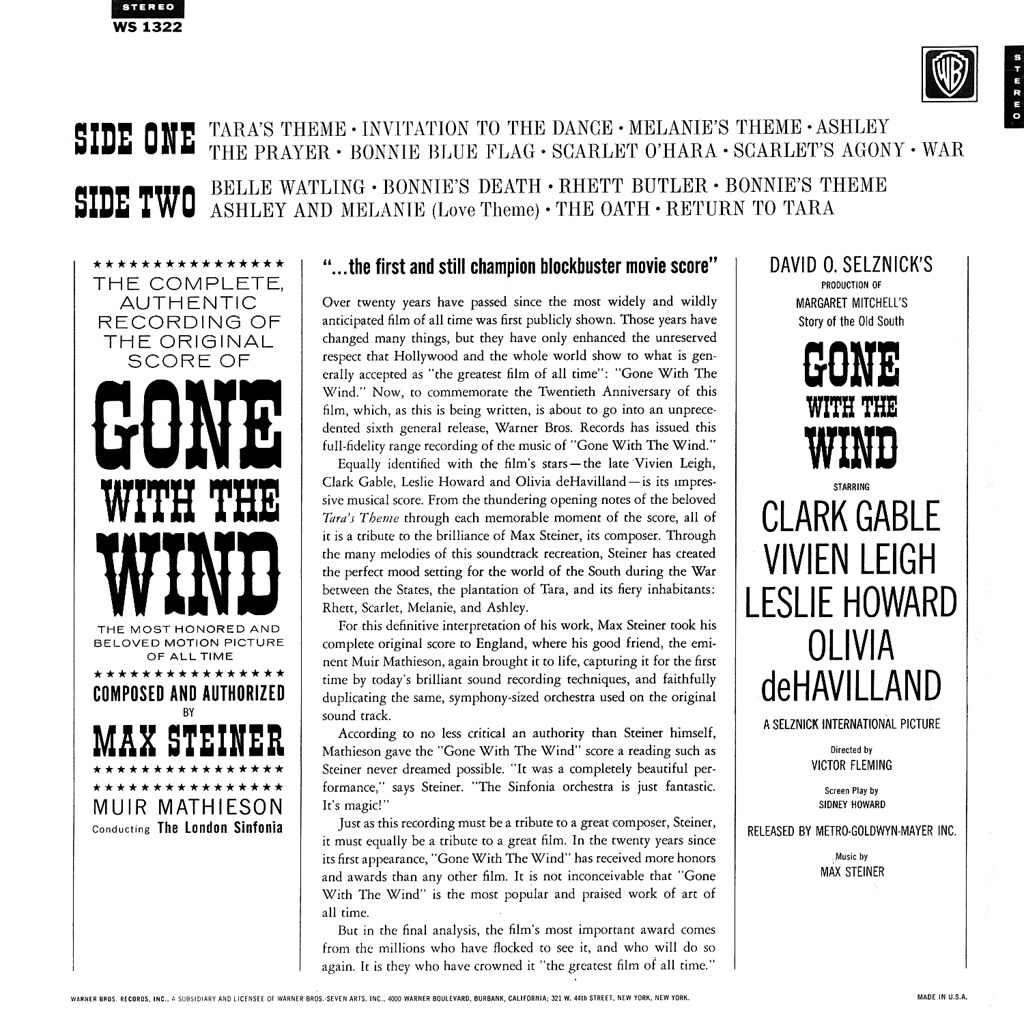 Max Steiner - Gone with the Wind