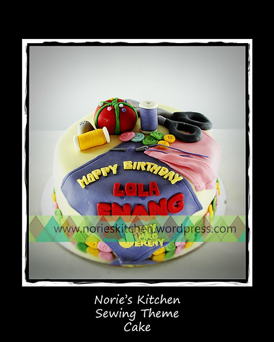 Norie's Kitchen - Sewing Theme Cake by Norie's Kitchen