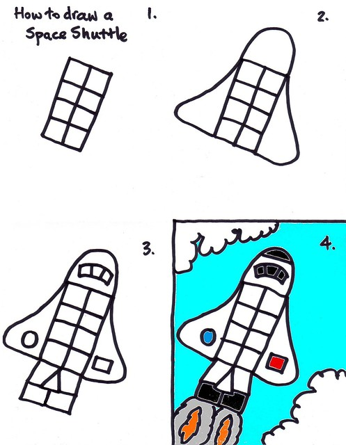 Drawing a Space Shuttle