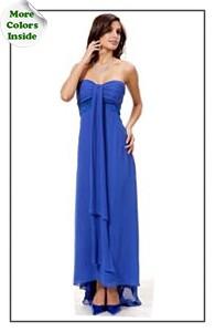 Elegant Strapless Chiffon Ball Gown