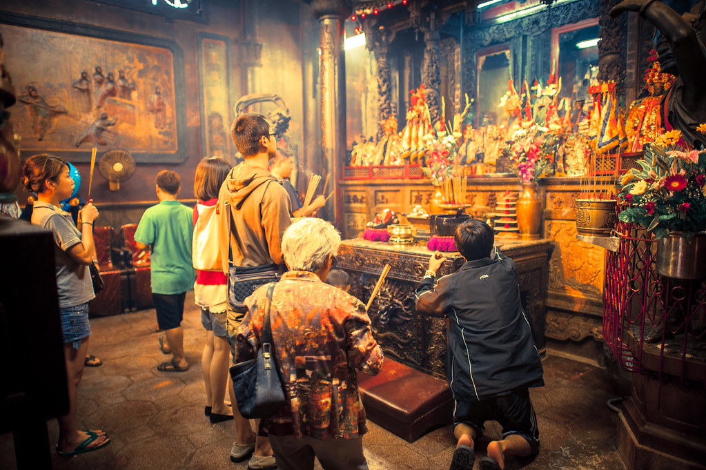 Matsu Temple Worshipers