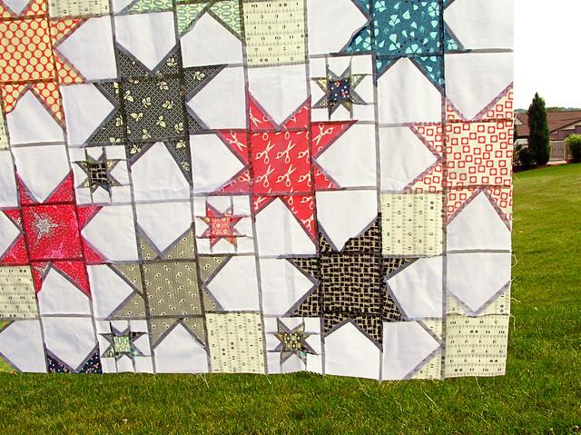stargazing quilt seams
