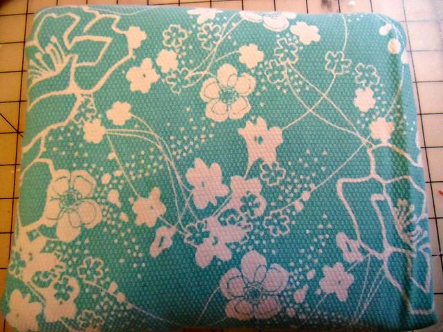 Teal/White floral fabric
