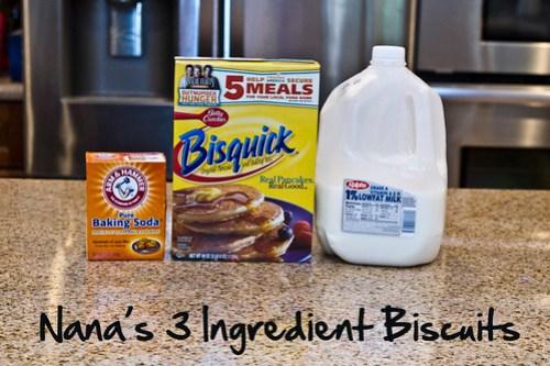 Nana's 3 ingredient Biscuits