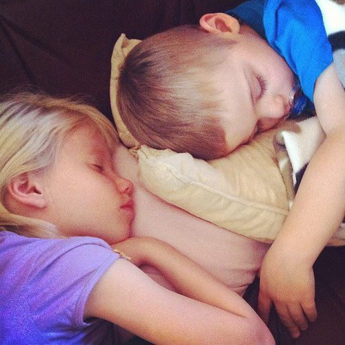 Relaxing can be exhausting. #sleep #kids