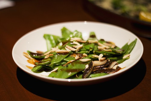 spicy snow peas & shiitake mushrooms