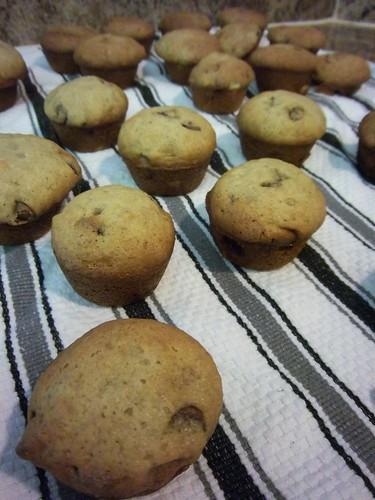 mini banana chocolate chip muffins