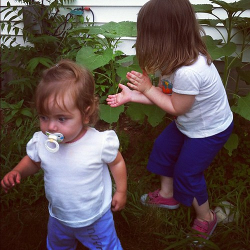 Babies and sunflowers