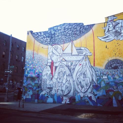 graffitti vid williamsburg bridge