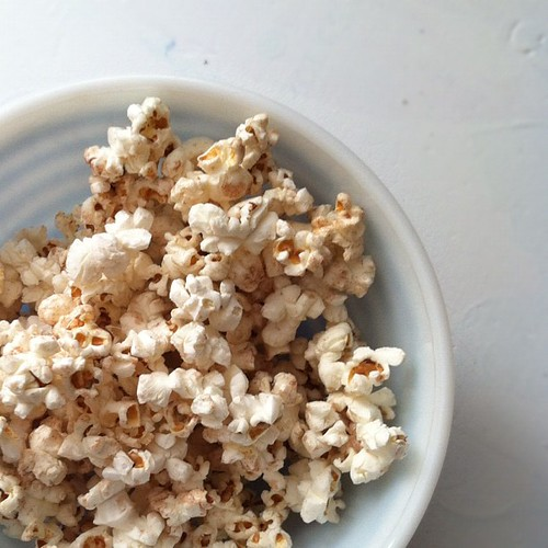 I'm being nice and sharing my stovetop cinnamon and sugar popcorn.