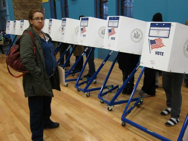 Election Day 2012: Privacy booths, Park Slope