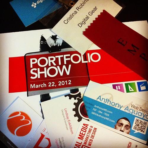 Yesterday's Portfolio Show. Very proud of my friends!