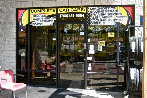 Meineke Fallbrook window wrap by MrBigCity