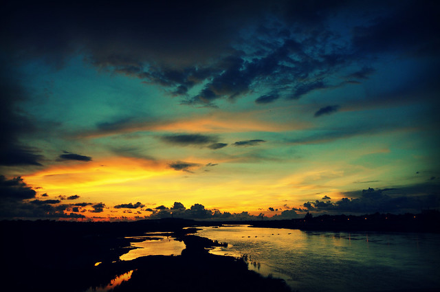 Padsan River at Sunset