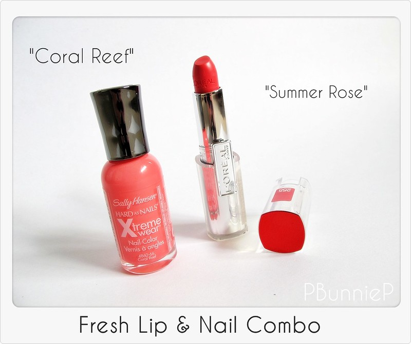 Coral lippie and nail_01