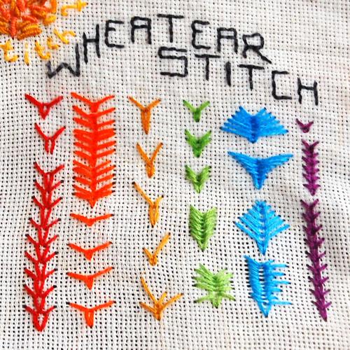 tast 2012 #17: wheatear stitch