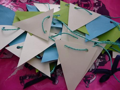 Handmade paper bunting