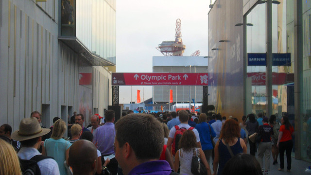 Walking to the Olympic Park