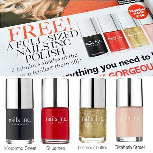Glamour magazine Free Nails Inc November 2012