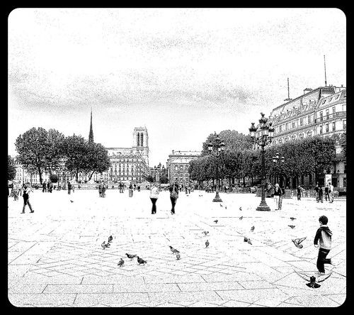 Year 1802 ~ Place de Grève ~ City Hall ~ Paris ~ MjYj by MjYj