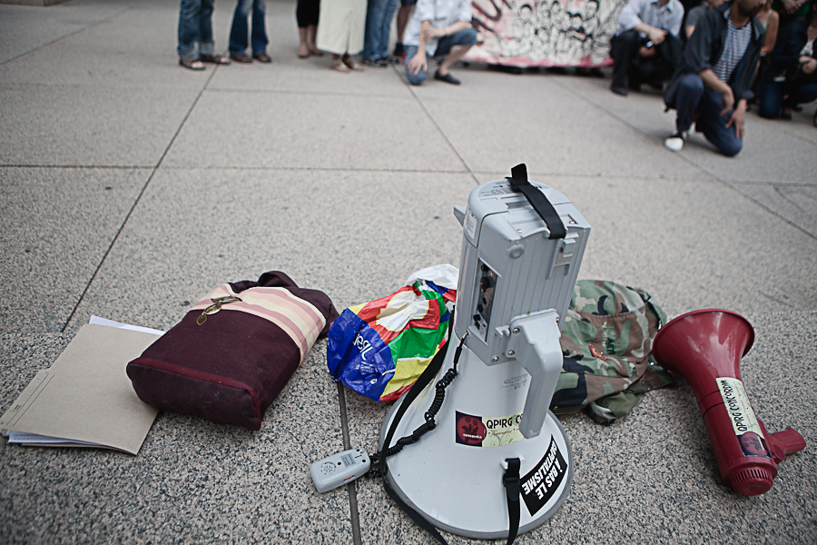 Vigile pour arrêter la déportation de Manuel Sanchez [photos Thien V]