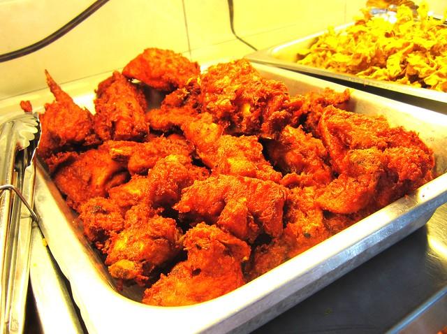 Deep-fried tandoori chicken