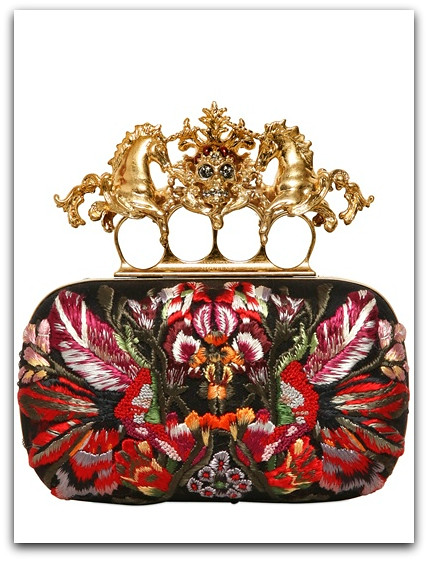 Alexander McQueen Flower Knucklebox evening clutch