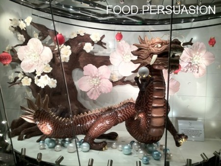 dragon chocolate sculpture