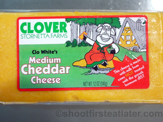 Clover medium cheddar cheese