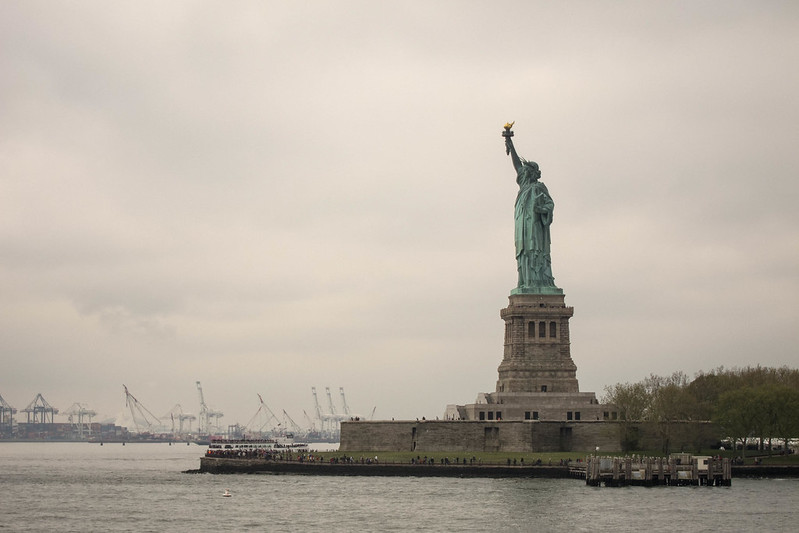 Approaching the Statue of Liberty