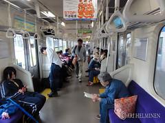 In a train at Aomori