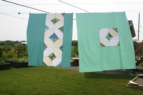 Wonky Kites - Quilt top and back