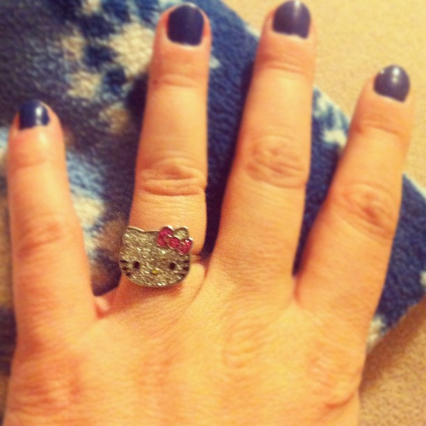 My temp wedding #ring, because my #pregnant fingers are too fat for my real ones #photoadayaug