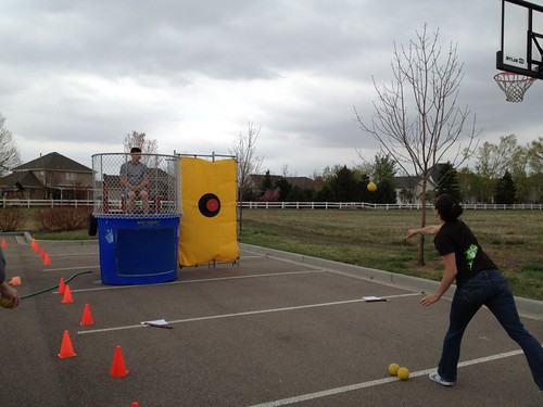 Attempting to dunk