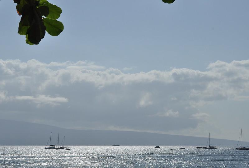 view of Lanai from Lahaina