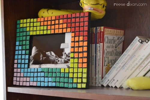 Faux Mosaic Picture frame