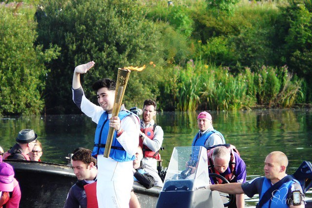 The Olympic Torch Relay, Fairlop Waters at The Purple Pumpkin Blog