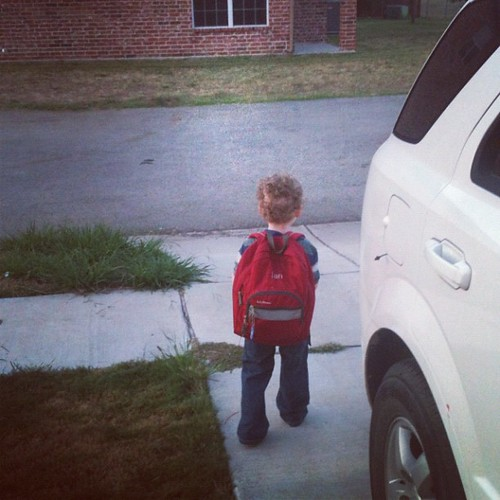 He looks so little. He can't be starting pre-k.