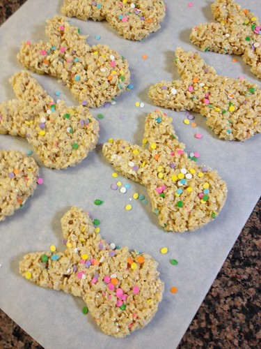 Bunny-Shaped Rice Crispie Treats