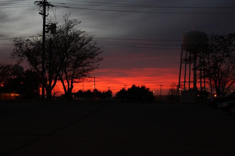 Sunset on Fort Riley