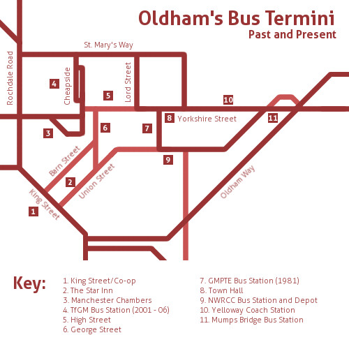 Oldham Termini Map