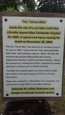 Ghost Bike Sign