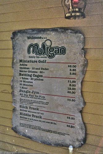 Scroll price menu