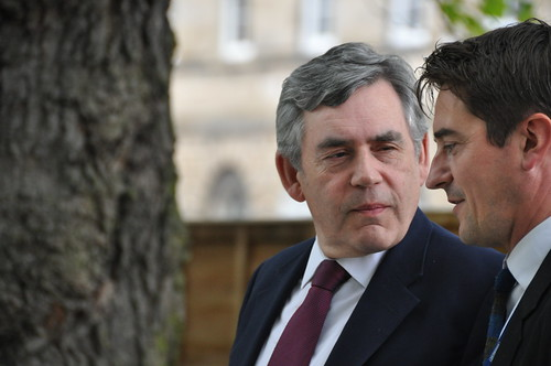 Gordon Brown and Nick Barley